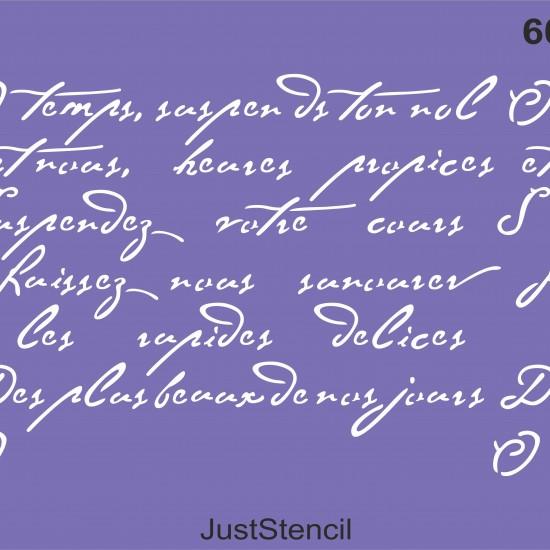 Poem Wall Stencil