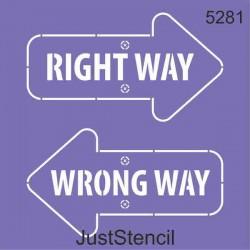 Right- Wrong Way